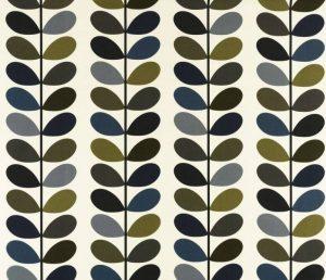 Orla Kiely gordijnstof Multi Stem Moss