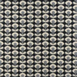 Orla Kiely gordijnstof Oval Flower Cool Grey