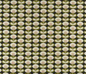 Orla Kiely gordijnstof Oval Flower Seagrass