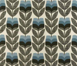 Orla Kiely gordijnstof Rosebud Powder Blue