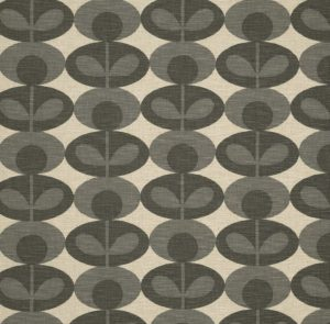 Orla Kiely meubelstof Oval Flower Warm Grey
