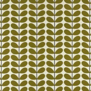 Orla Kiely gordijnstof Two-colour Stem Olive