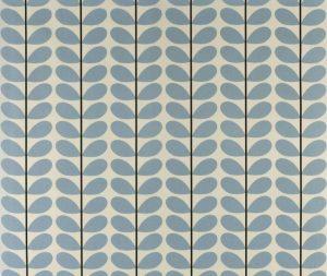 Orla Kiely gordijnstof Two-colour Stem Powder Blue
