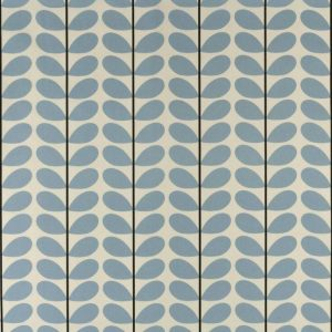 Orla Kiely gordijnstof Two-colour Stem Powder Blue