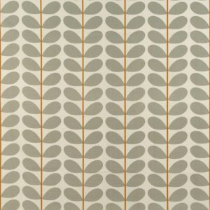 Orla Kiely gordijnstof Two-colour Stem Warm Grey