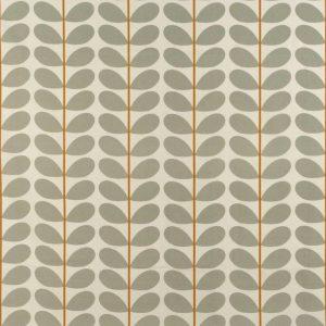 Orla Kiely gordijnstof Two-colour Stem Warm Grey