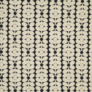 Orla Kiely meubelstof Velvet Sixties Stem Charcoal