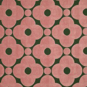 Orla Kiely meubelstof Velvet Spot Flower Jade