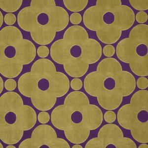Orla Kiely meubelstof Velvet Spot Flower Purple