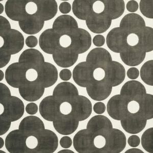 Orla Kiely meubelstof Velvet Spot Flower Warm Grey