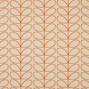 Orla Kiely gordijnstof Woven Linear Stem Orange