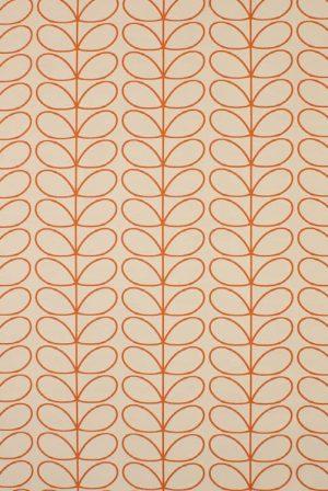 Orla Kiely gordijnstof Woven Linear Stem Orange