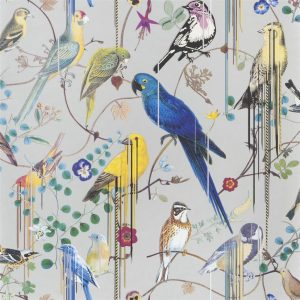 Christian Lacroix behang Birds Sinfonia Argent