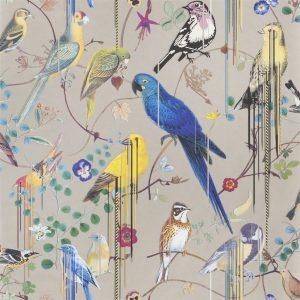 Christian Lacroix behang Birds Sinfonia Cuivre