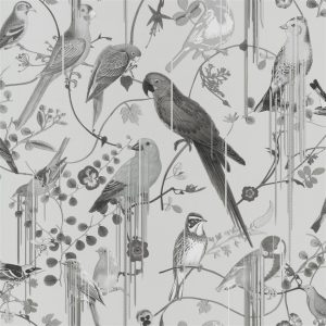 Christian Lacroix behang Birds Sinfonia Graphite
