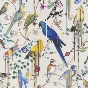 Christian Lacroix behang Birds Sinfonia Jonc
