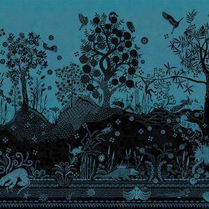 Christian Lacroix paneel behang Bois Paradis Bleu Nigelle