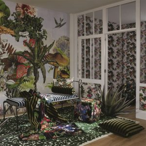 Christian Lacroix paneel behang Jardin des Reves Panoramic Prisme