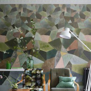 Designers Guild paneel behang Geo Moderne Jade