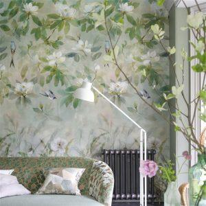 Designers Guild paneel behang Kiyosumi Celadon