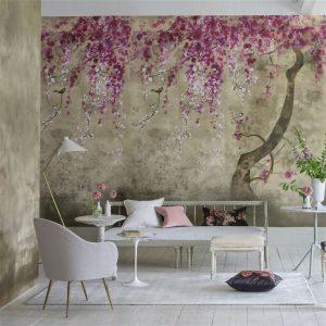Designers Guild paneel behang Shinsha Scene 2 Blossom