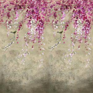 Designers Guild paneel behang Shinsha Scene 1 Blossom