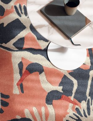 Ted Baker tapijt Cranes Pink