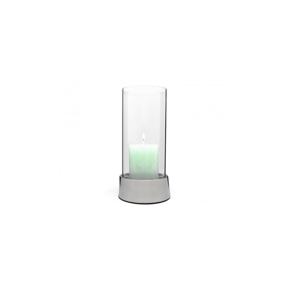 Zilverstad windlicht Oblique