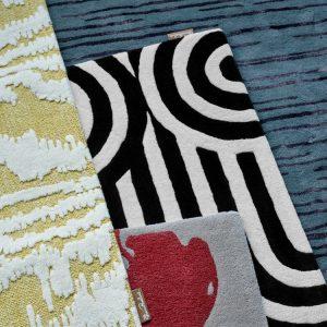 Florence Broadhurst tapijt Slub Charcoal