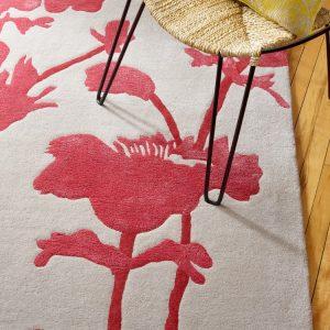 Florence Broadhurst tapijt Floral 300 Charcoal