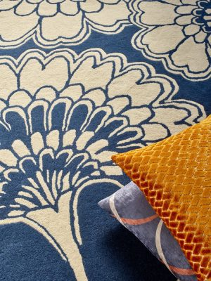 Florence Broadhurst tapijt Japanese Floral Midnight