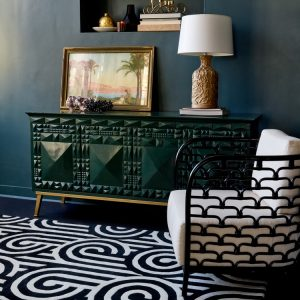 Florence Broadhurst tapijt Turnabouts Claret
