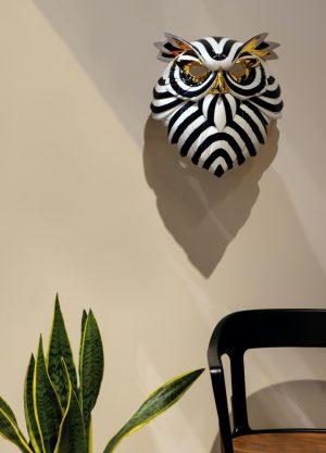 Lladró decoratief masker Owl