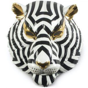 Lladró decoratief masker Tiger