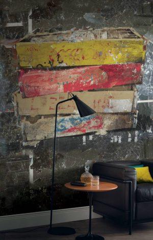 Casamance panoramisch behang A Fond la Caisse