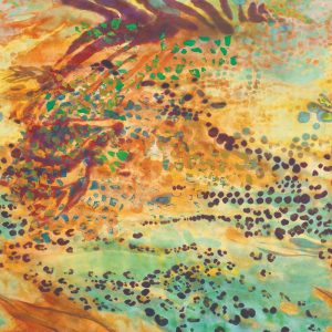 Casamance panoramisch behang Aurore Animale multi