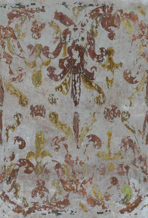 Casamance panoramisch behang Chez les Grecs ocre