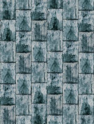 Casamance behang Cuirasse de Cuivre blue