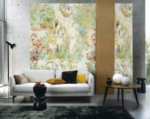 Casamance panoramisch behang Floreal multi