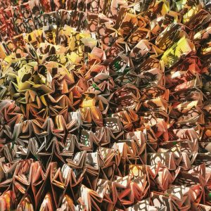 Casamance panoramisch behang Gami Fever multi
