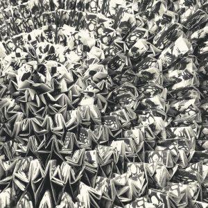 Casamance panoramisch behang Gami Fever noir et blanc