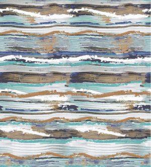 Casamance panoramisch behang Socorro blue
