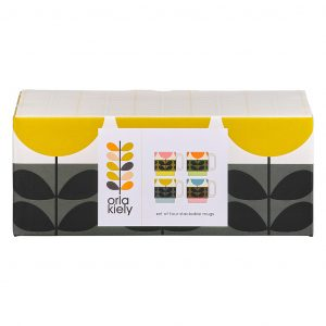 Orla Kiely stapelbare mokken Sunflower Multi - set van 4