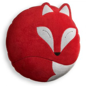 Leschi knuffelkussen Paco the Fox rood