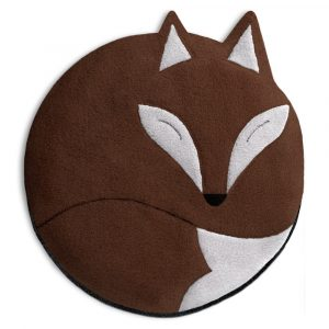 Leschi warmtekussen Luca the Fox chocolade