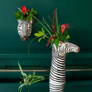 Quail Ceramics vaas Zebra