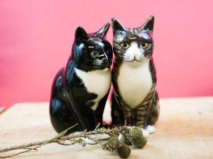 Quail Ceramics zout en peperset Millie en Julius de katten
