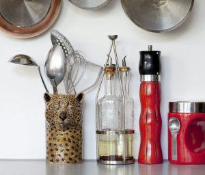 Quail Ceramics pot voor keukengerei Leopard